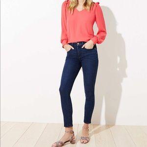 Loft dark wash skinny jeans size 14/32